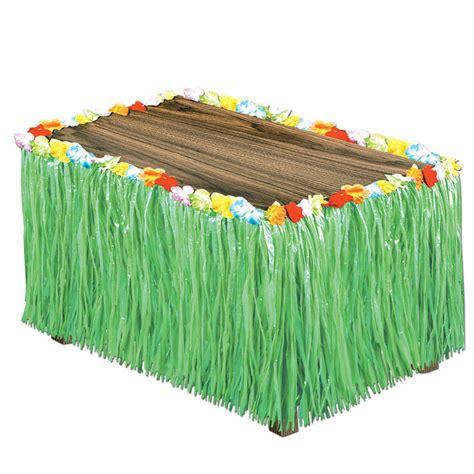 artificial green grass table skirt skirting hawaiian luau
