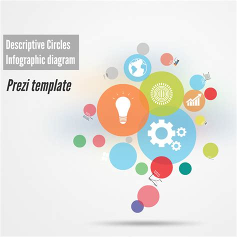 descriptive circles prezi template preziland