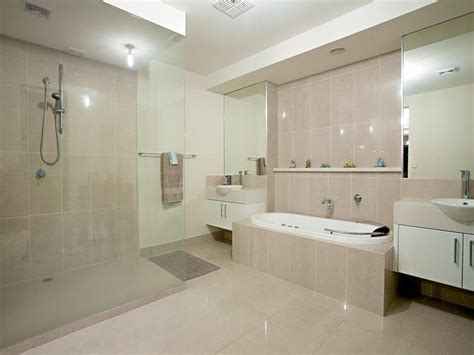 Modern bathroom design with spa bath using tiles