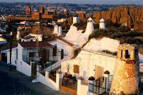 guadix cave houses  spain revive troglodyte living