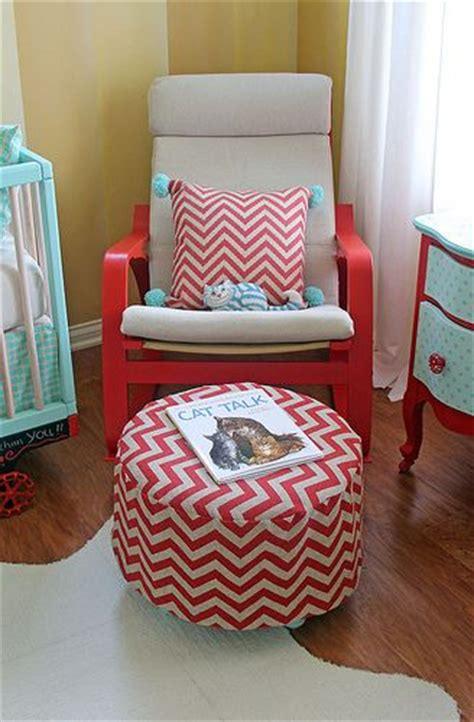 Poang Rocking Chair Nursery Circus Nursery Ottoman And Rocker Poang Rocking Chair From Ikea Painted To Match D 233 Cor
