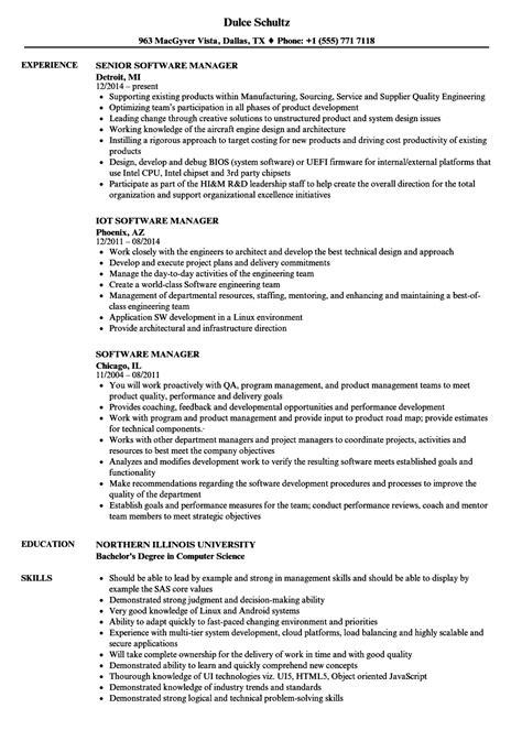 software manager resume sles velvet