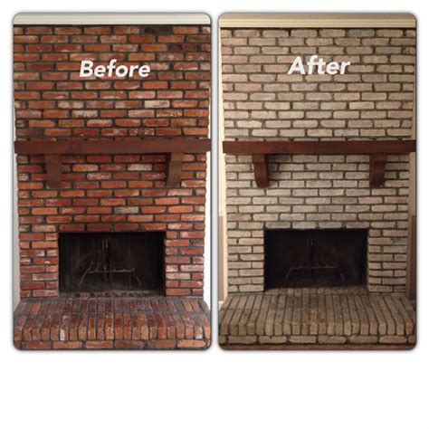 whitewashing brick fireplace studio design gallery
