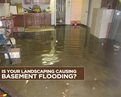 causes of basement flooding is your landscaping causing basement flooding