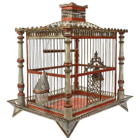 bird cage plans woodworking 19th century painted tole and wood bird cage with