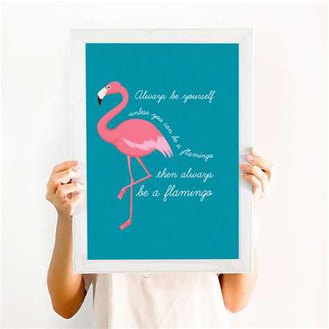 Frame Bingkai Pigura Poster Flamingo A4 flamingo print always be a flamingo dickens ink