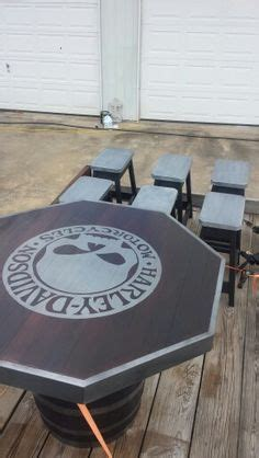Harley Table And Stools by Harley Davidson Corn Custom Boards M R