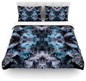 black and blue duvet cover akwaflorell quot abyss quot blue black duvet cover cotton king