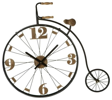 houzz wall clocks shop houzz midwest cbk vintage bicycle wall clock wall