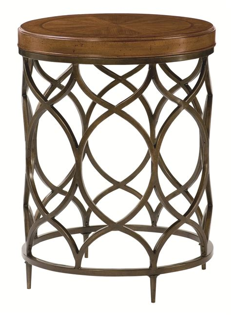 bright colored accent tables hammary hidden treasures 090 571 round l table with