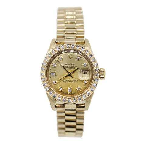 golden rolex 18k gold rolex 6927 datejust presidential