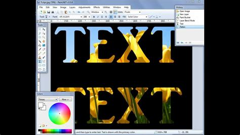 tutorial edit vscom paint net how to type transparent text youtube