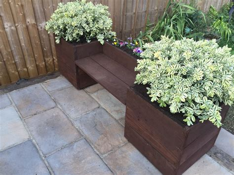 garden planter bench hand made wooden garden bench planter herb box trough