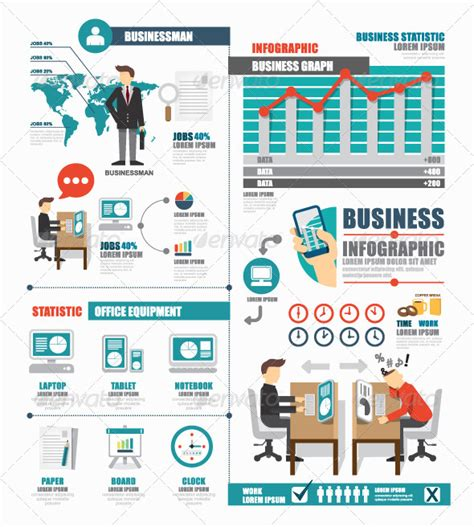 Infographic Business World Job Template Design By Pongsuwan Graphicriver Career Infographic Template