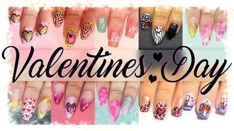 nail art tutorial compilation valentines day nail art tutorial compilation youtube
