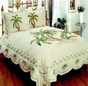 bedroom bedding 3pcs quilt set palm tree palm tree decor