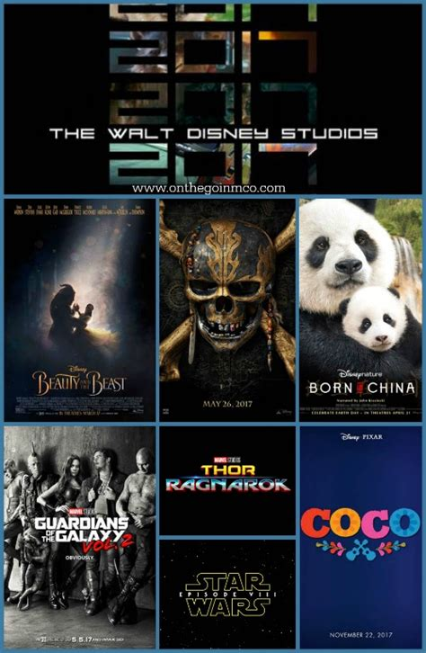 disney film slate 2017 2017 walt disney studios motion picture slate on the go