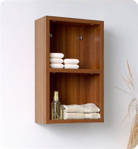 Bathroom Side Cabinet 11 75 Quot Fresca Fst8092tk Teak Bathroom Linen Side Cabinet W 2 Open Storage Areas Side