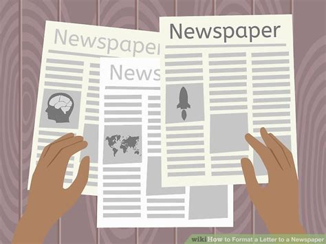 How To Format A Letter To A Newspaper 6 Steps With Pictures Letter Newspaper Format