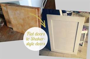 updating kitchen cabinet doors beautifully contained kitchen update how to convert flat doors into shaker style doors