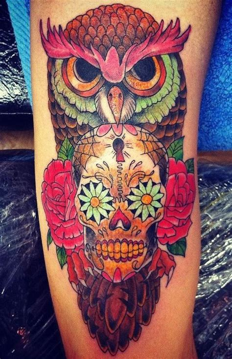 tattoo owl with skull meaning 50 owl and skull tattoo ideas for your first ink owl
