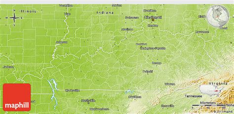 physical map of kentucky physical 3d map of kentucky