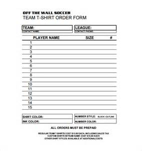 T Shirt Order Form Template by Doc 585530 Shirt Order Form Tshirt Order Form Template