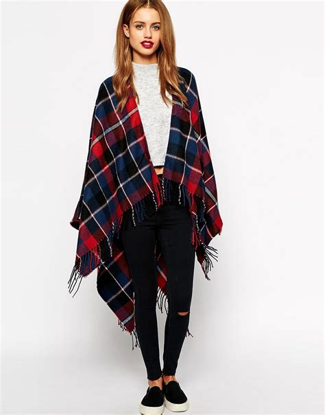 new look new look check wrap scarf at asos
