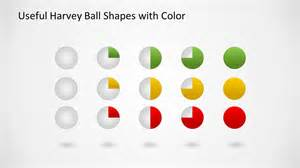 colorful harvey ball icons for powerpoint slidemodel