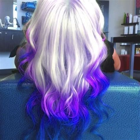what purple hair dip dyed with black looks like purple violet and platinum blonde ombre hairstyle hair