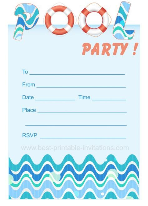 printable naruto birthday invitations blank pool party ticket invitation template