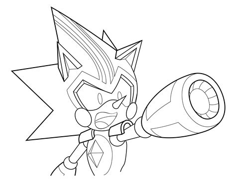 coloring page 6 shard the metal sonic by xaolin26 on
