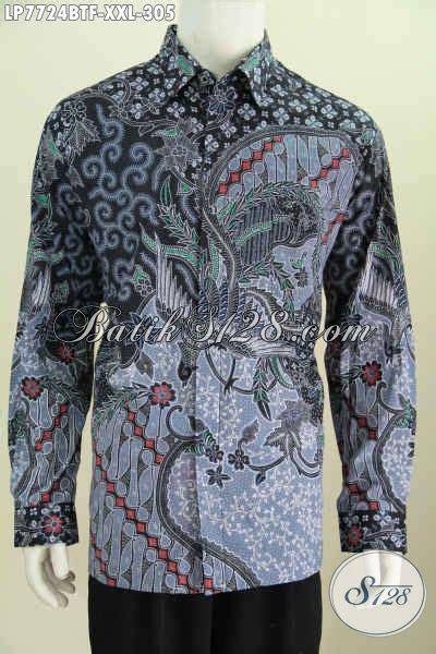 desain baju batik pria kombinasi hem batik jumbo baju batik pria gemuk desain terkini