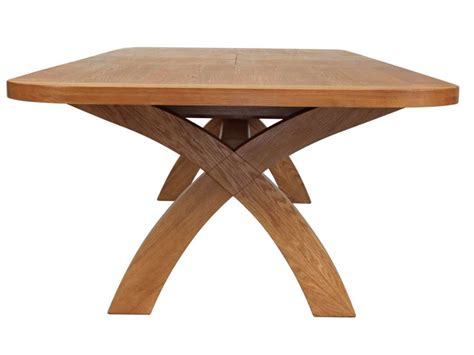 cross leg dining table country oak large extending cross leg dining table