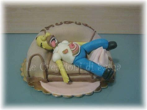 homer divano le creazioni di torta homer divano