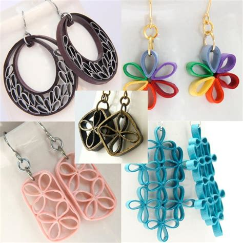 Make Paper Jewelry - 5 tutorials for paper quilling flowers