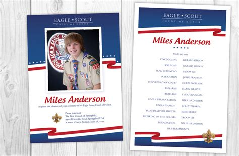 eagle scout court of honor program template family gathering eagle scout court of honor dfbloxham s