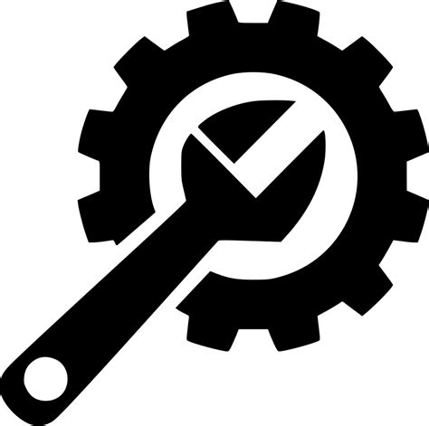 repair icon gear hard repair fix wrench svg png icon free download
