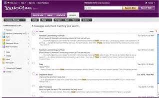 Email Yahoo Faster Email Search With Yahoo Mail Beta