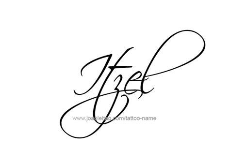 itzel name tattoo designs