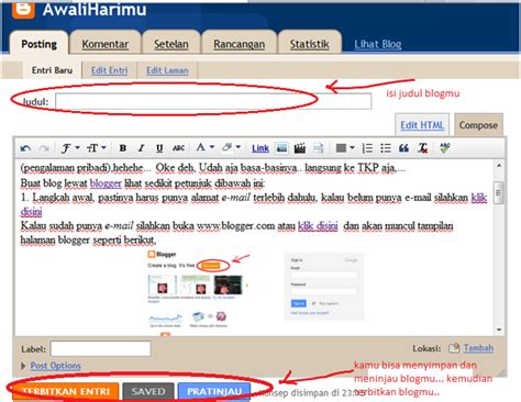 cara membuat blog menggunakan xp cara mudah buat blog menggunakan blogger awaliharimu