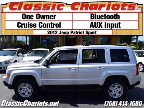 Jeep Dealerships Near Me Used Suv Near Me 2012 Jeep Patriot Sport With Bluetooth