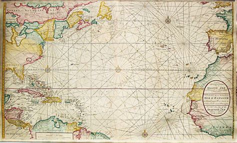 sea map antique sea chart of the altantic guidry s reef wind map