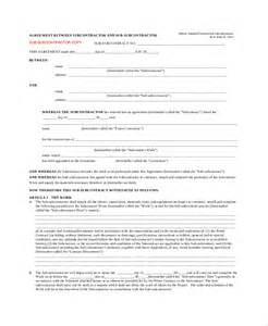 standard subcontract agreement template sle contract agreement 43 free documents in