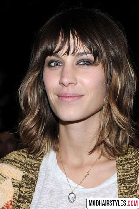 haircuts for thin curly hair with bangs medium haircut for thin hair type medium haircuts