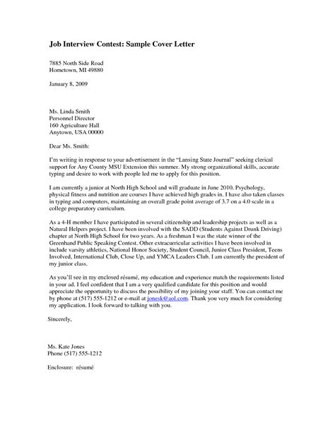 cover letter for writing contest sle cover letter for writing contest helloguanster