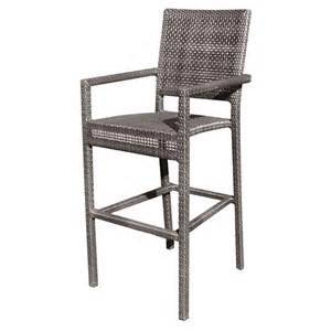 wicker bar stools with arms whitecraft by woodard miami wicker 24 quot counter stool with arms wickercentral com