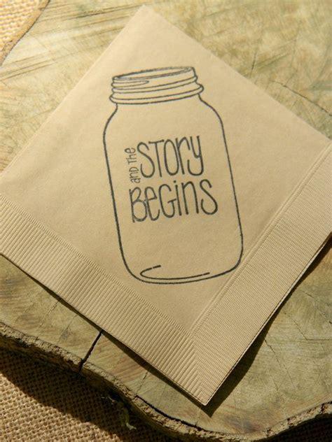 tattoo paper napkins rustic light burlap the story begins mason jar napkins