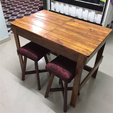 Meja Makan Style Jepun meja makan kayu pallet home furniture furniture on carousell