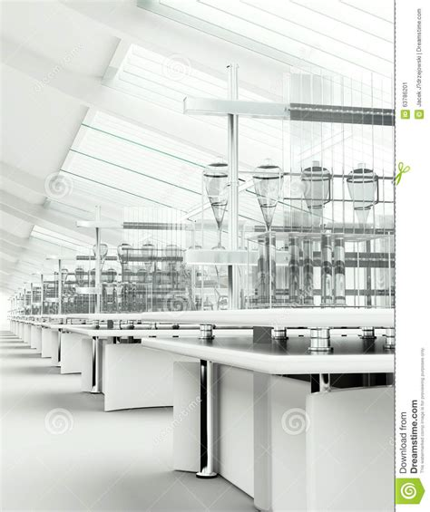design lab delivery time clean modern white laboratory interior stock image image